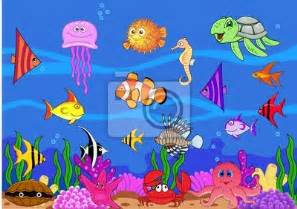 sea life wall murals wall mural sea life algae animal art pixersize com