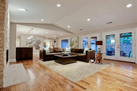 hardwood floor living room del roy project nortex custom hardwood floors modern