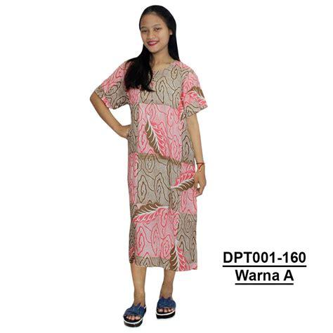 Daster Busui Dan Bumil daster batik lengan pendek motif daun leher kancing