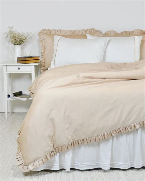 ruffle comforter set queen ruffle duvet cover set in full queen king twin ivory