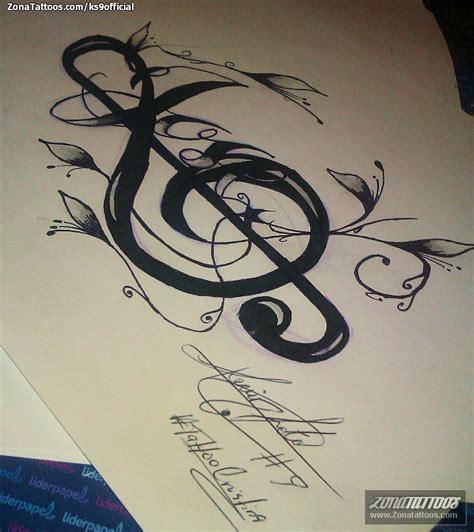 imagenes de notas musicales tatuajes dise 241 o de notas musicales jos 233 letras