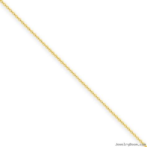 14k .6mm Solid Polished Cable Chain (Cable Chains)