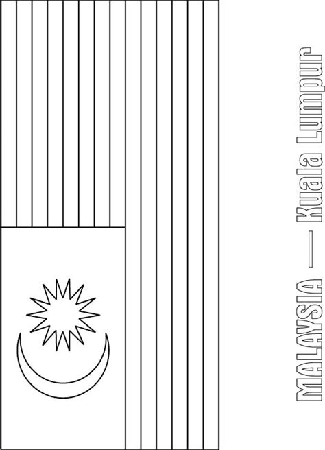 malaysia flag free colouring pages