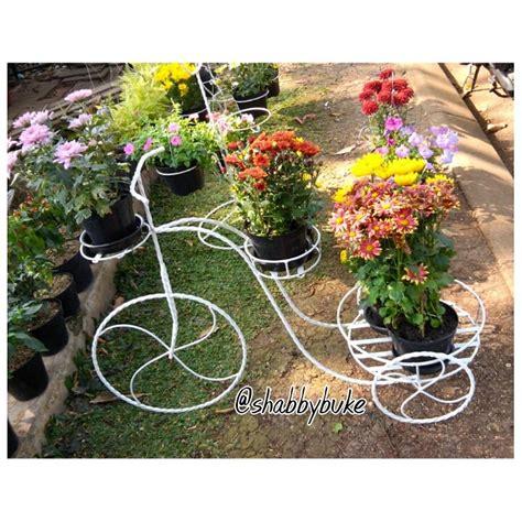 Jual Rak Besi Pot Bunga jual rak bunga sepeda hias besi putih shabby chic