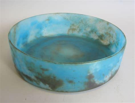 Antique Blue Glass L by Deco 10 Quot Blue Mottled Glass Bowl C 1920