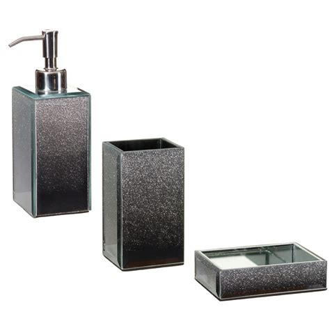 glitter bathroom sets glitter ombre soap dispenser bathroom accessories b m
