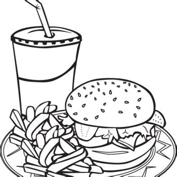 fast food coloring pages printable games sketch coloring page