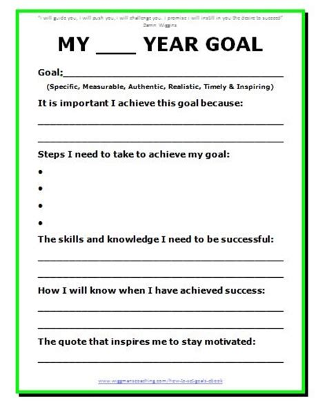 personal goal setting template 11 effective goal setting templates for you stunning