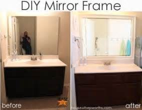 diy framing bathroom mirror how to frame around bathroom mirror