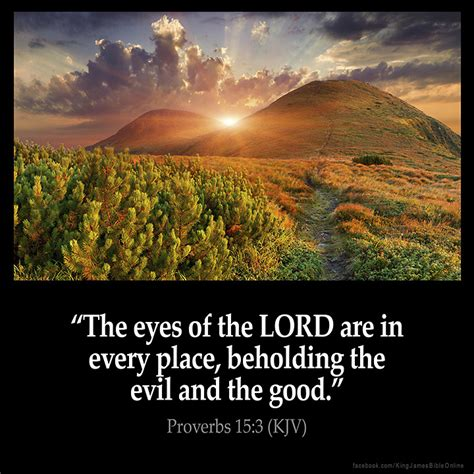 The Place Bible Verse Proverbs 15 3 Inspirational Image