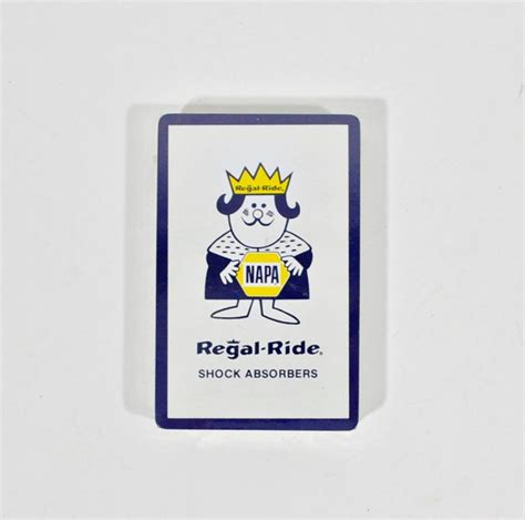 Napa Gift Card - napa advertising playing cards regal ride shock absorbers just vintage home