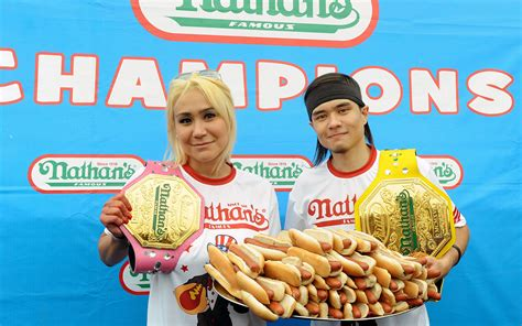 female hot dog eating contest winner what it s like traveling to compete in a hot dog eating
