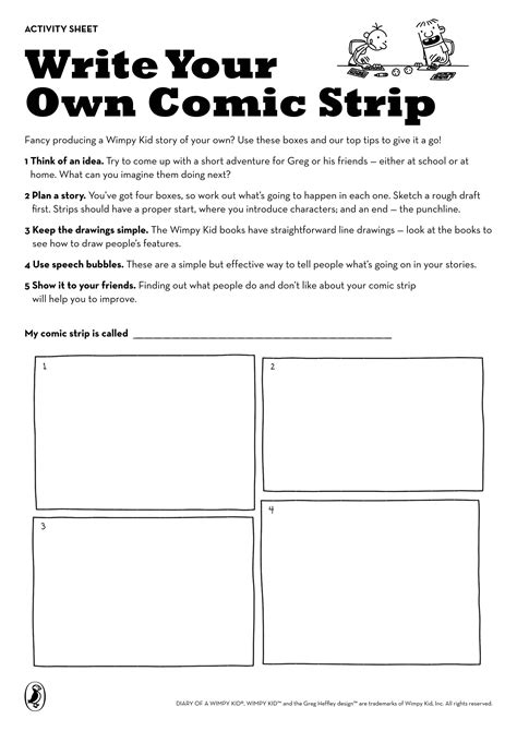 search results for draw your own comic strip template