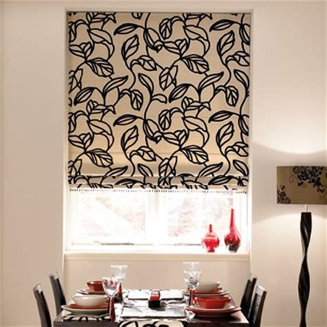 black patterned roman blind roman blinds black country blinds