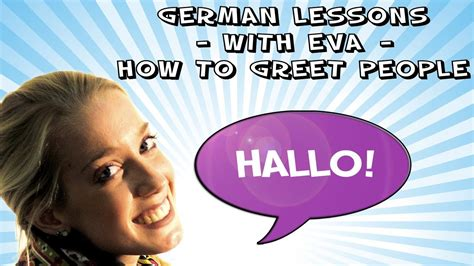 german lesson    greet people youtube
