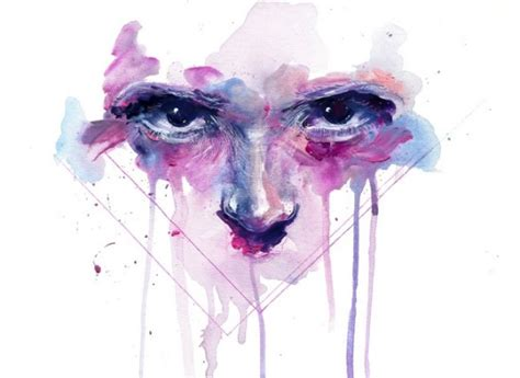 emotionally evocative watercolor paintings by agnes cecile