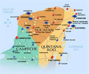 Yucatan Mexico Map by Pics Photos Yucatan Peninsula Map