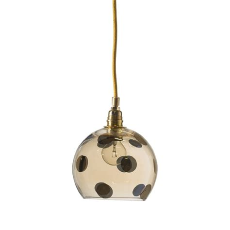 Glass Ceiling Pendant Light by Transpaarent Gold Glass Ceiling Pendant Light With Polka Dots