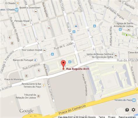 map  rua augusta lisbon