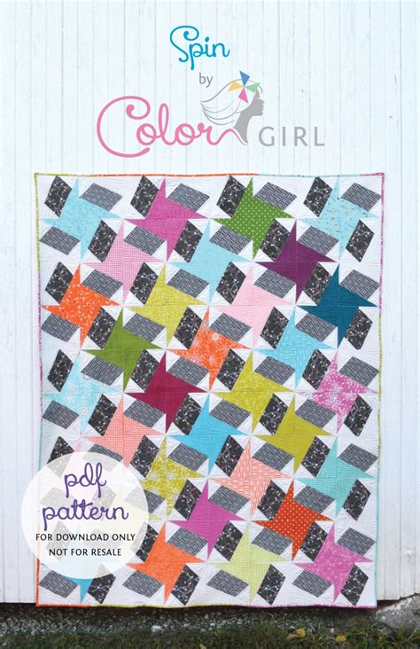Spin Quilt Pattern Now Available Color Girl Quilts By Sharon Mcconnell Spinning Quilt Template