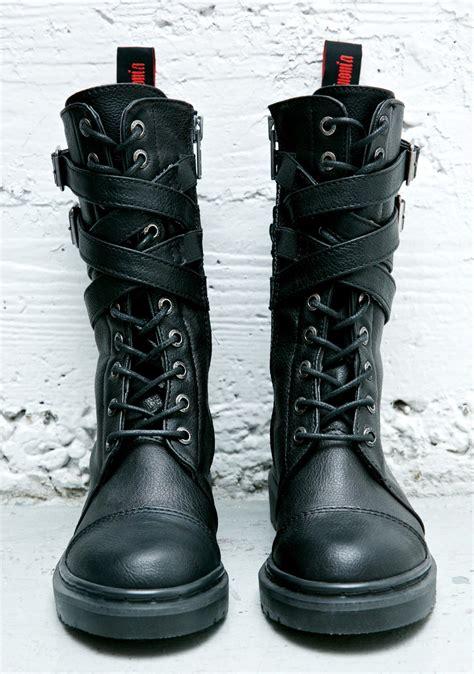 demonia boots demonia rival strappy combat boots dolls kill