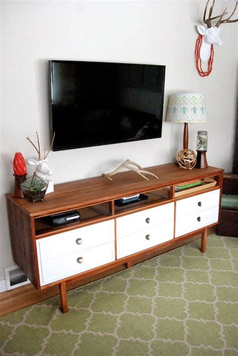 Console Dresser by Mid Century Dresser Turned Tv Console