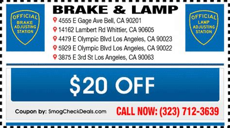 certified brake and light inspection brake and light inspection east los angeles