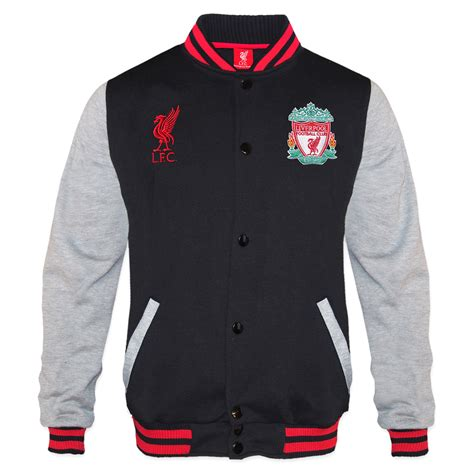 Jaket Baseball Black Real Madrid Fc liverpool fc official football gift mens retro varsity baseball jacket black ebay