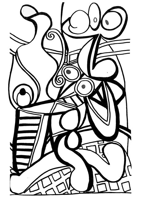 pablo picasso animal coloring pages
