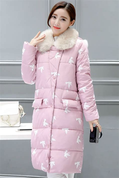 Bulu Korea Pink jaket bulu wanita pink coat with fur jyy355767