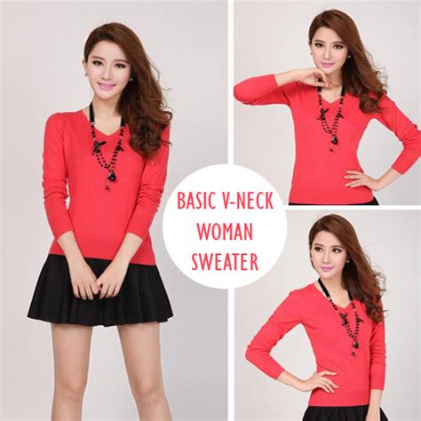 Bc V Neck Rajut Bahan Rajut Fit To L Streach Basic V Neck Sweater Coret Coretan Gw