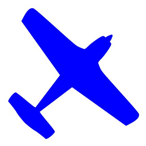 file airplane ga blue svg wikimedia commons