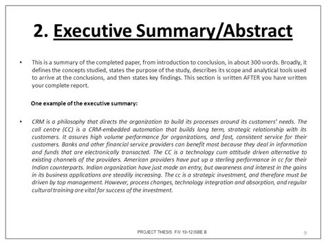 thesis abstract or summary batch fw course isbe b project thesis ppt video