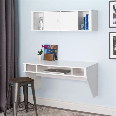 white wall mounted desk hollywood style vanity floating make up makeup wall