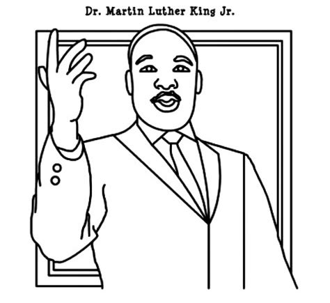 Martinlutherkingjr Printable Coloring Pages Martin Luther King Color Page