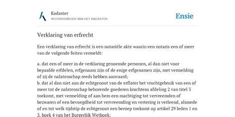 erfrecht 2015 verklaring overlijden notaris erfenis verklaring van erfrecht de betekenis volgens kadaster