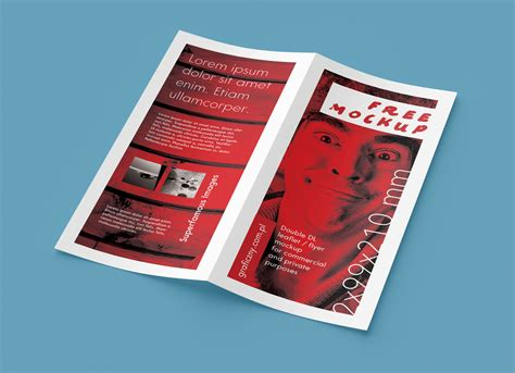 Bi Fold Brochure Paper - free bi fold leaflet mockup psd mockups