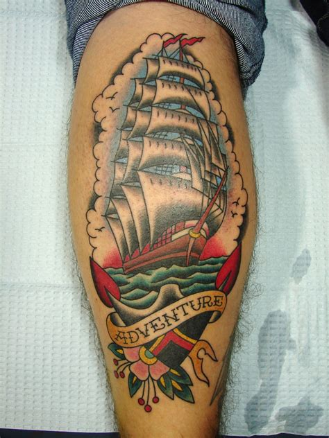 traditional ship tattoo traditional octopus and ship www imgkid the