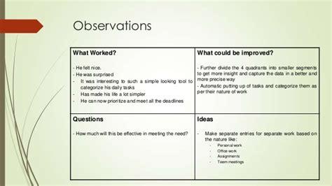 Design Thinking Quadrant | design thinking prototype and test