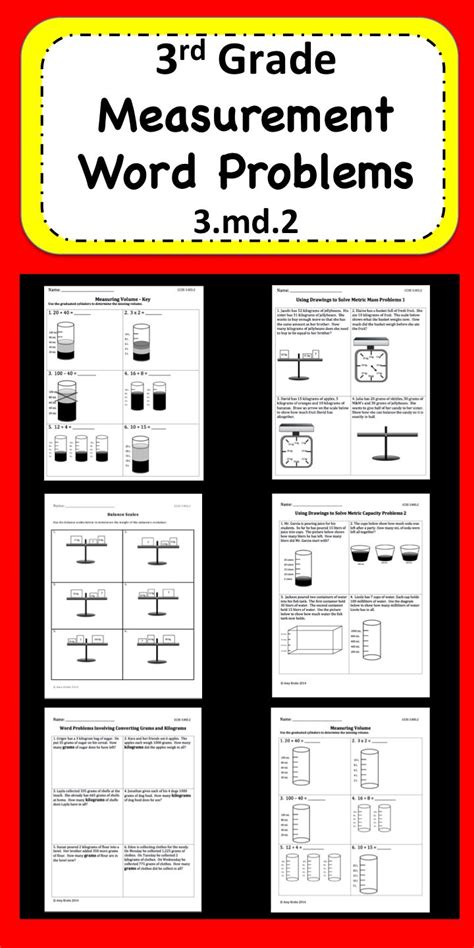 3rd Grade Measurement Worksheets by 17 Best Images About Education On Fact