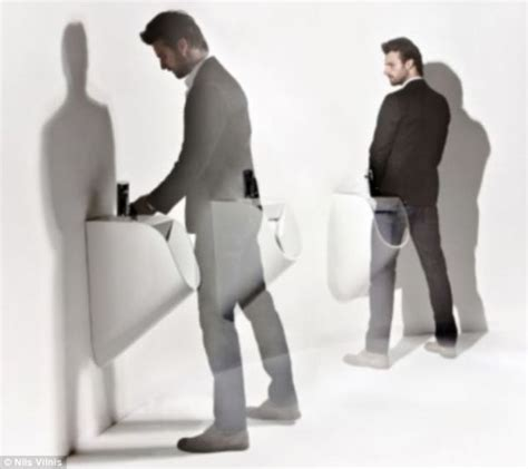 going to the bathroom naked designer wants better male hygiene adds taps to urinals