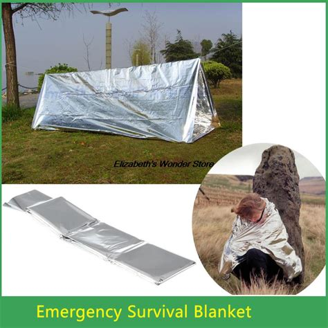 Emergency Blanket Survival Brw new arrival emergency survival waterproof rescue blanket foil thermal aid wholesale