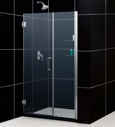 Shower Door Alternative Unidoor W 24 Quot Stationary Glass Shelves