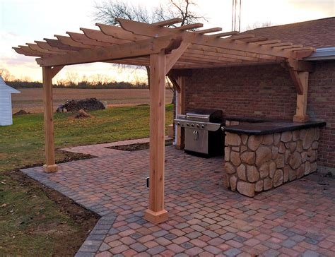 Outdoor Kitchen Arbor Pergolas Outdoor Kitchens Photo Pixelmari