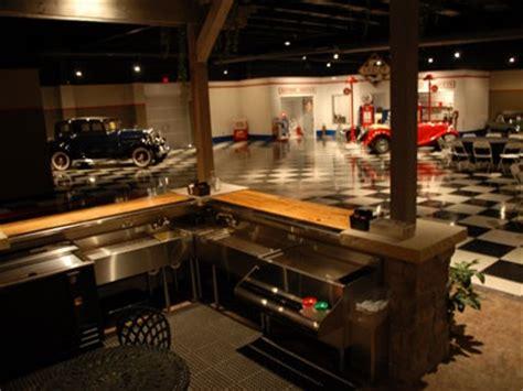 bar in garage automotive decorating ideas