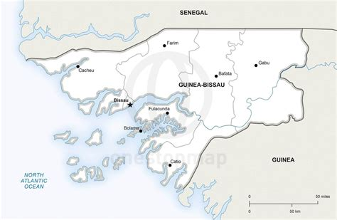 guinea bissau political map vector map of guinea bissau political one stop map