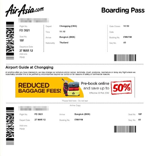 Airasia Hot Boarding Pass | pantip com e11894593 ตกเคร อง air asia ฉงฉ ง