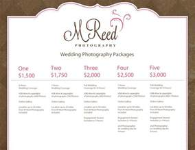 Photography Packages Wedding Photography Packages M Reed Photography