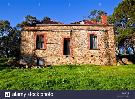 buying a house in south australia old abandoned farm house on the meadows road fleurieu peninsula in stock photo