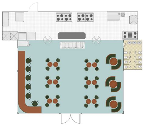 cafe floor plan cafe and restaurant floor plan solution conceptdraw com